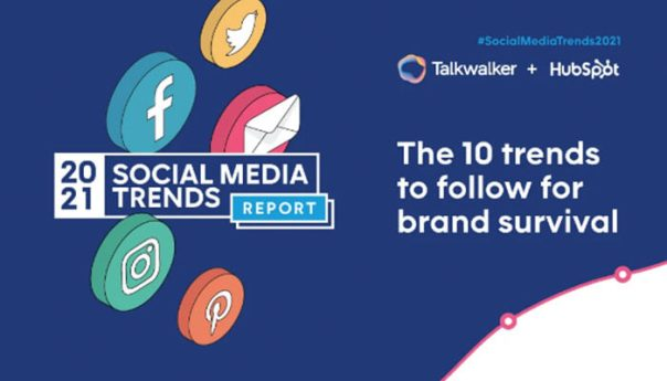 Infographic of Top 10 Social Media Trends for 2021.