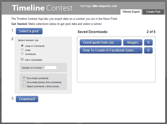 Easily Run Contests in the News Feed on Facebook with the