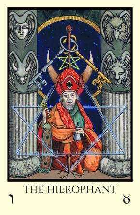 Hierophant Tabula Mundi Tarot color version