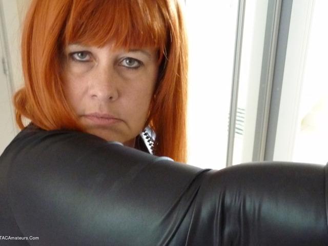 MrsLeather - Wearing My Leather Slut Dress