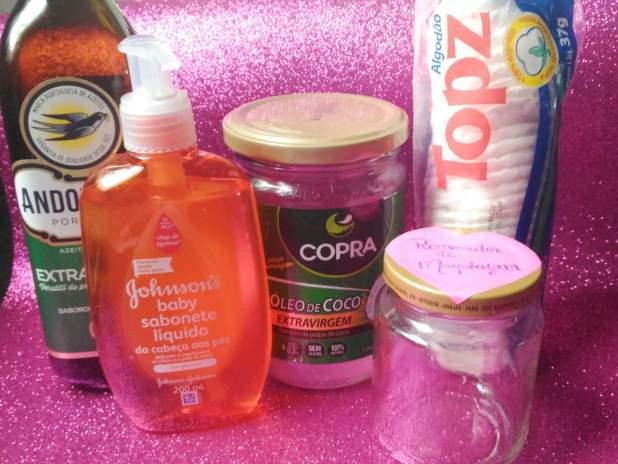 Ingredientes removedor de maquiagem
