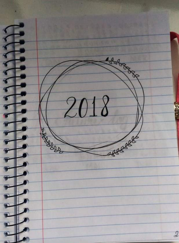 meu bullet journal 2018