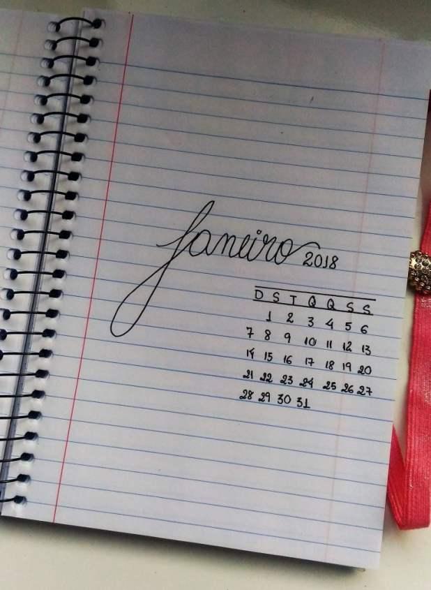 bullet journal janeiro