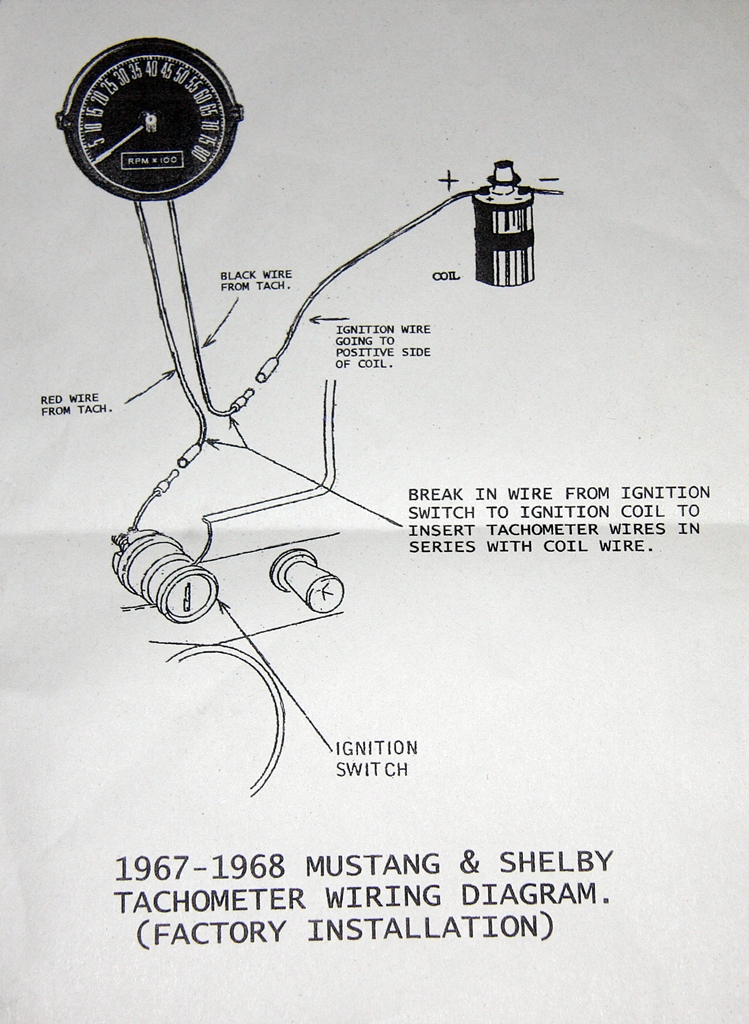 1968 Mustang Tach Wiring Wirea