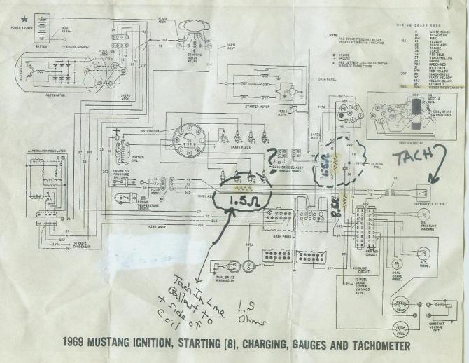 67 mustang gt tachometer wiring  wiring diagrams page mark
