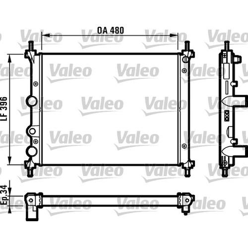 Chladič motora Fiat Bravo I 1.4, 1.6