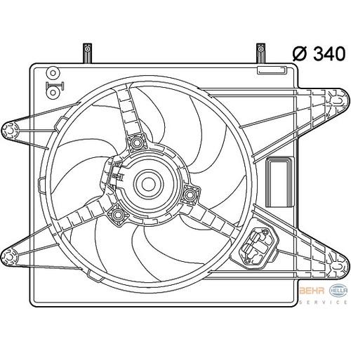 Ventilátor chladiča Fiat Bravo 46539871
