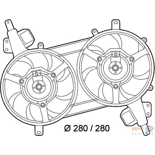 Ventilátor chladiča Fiat Bravo I 1.9 TD 46479804