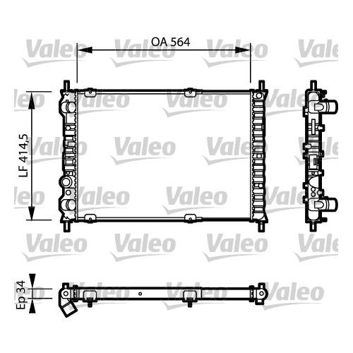 Chladič motora Fiat Marea Weekend 46462526