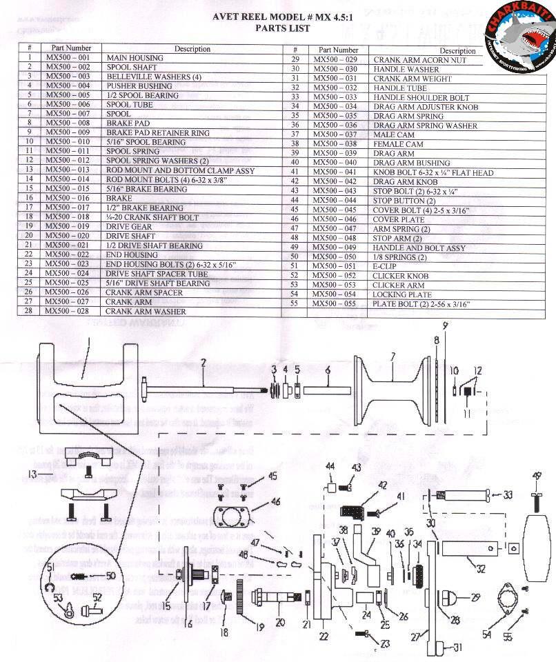 Penn 113H Parts List And Diagram : Ereplacementparts