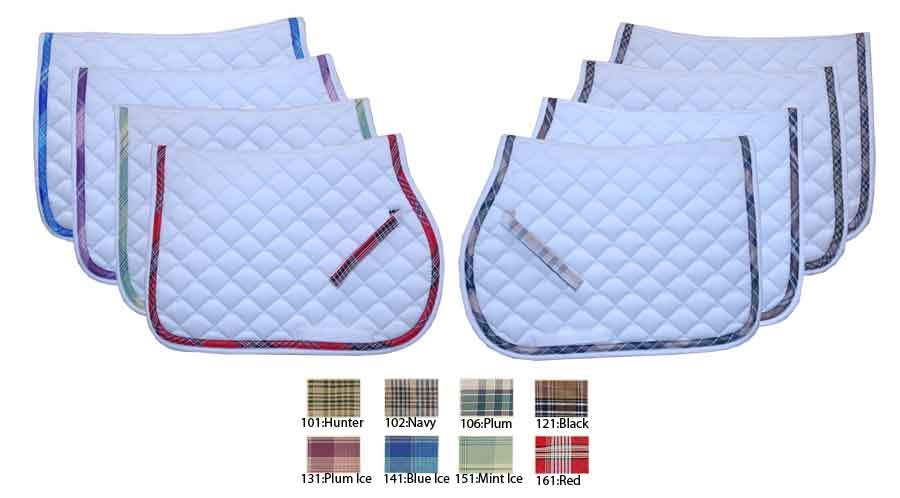 kitchen rugs washable cleaning kensington all purpose plaid lined saddle pad