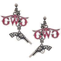 Montana Silversmiths Girls with Guns Charm Earrings