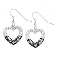 Montana Silversmiths Vintage Heart Charm Earrings