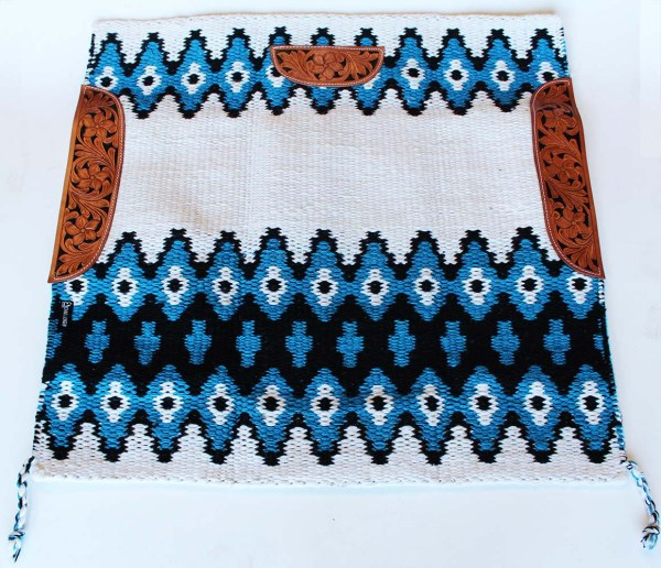Blue Western Show Saddle Pads - Year of Clean Water