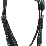 Horse Tack Bridle Western Leather Headstall Breast Collar Turquoise Bling 80126b Ebay