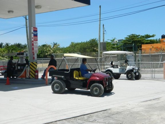 golf cart picture san pedro belize