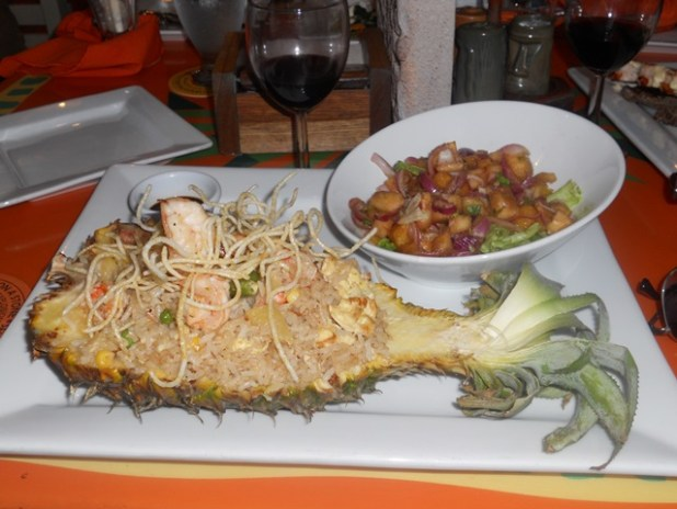 pineapples restaurant at ramon's village in belize