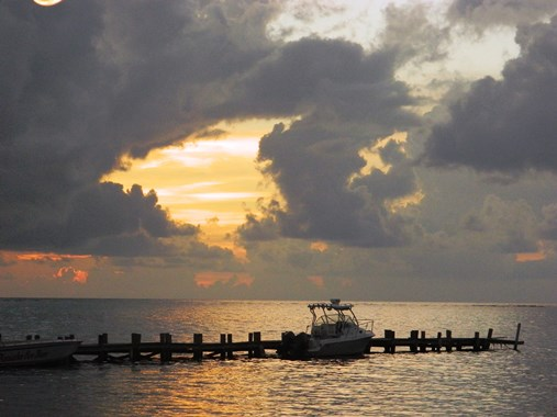 san pedro belize beach sunrise