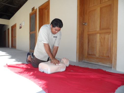 san pedro belize red cross first aid course