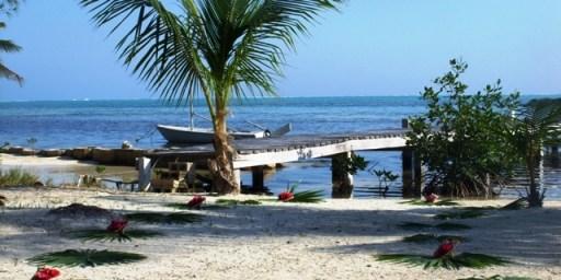 romantic beach wedding in belize