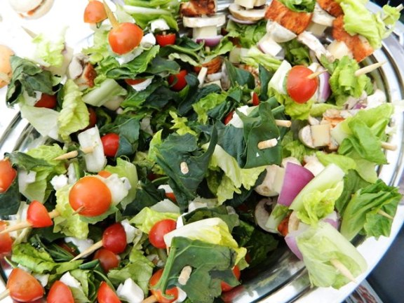 simple salad skewers