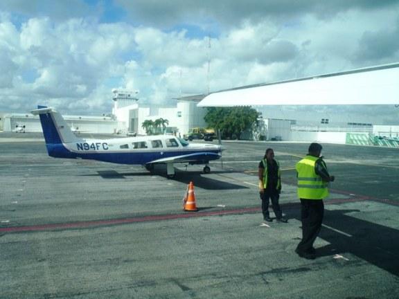 landing at cancun airport