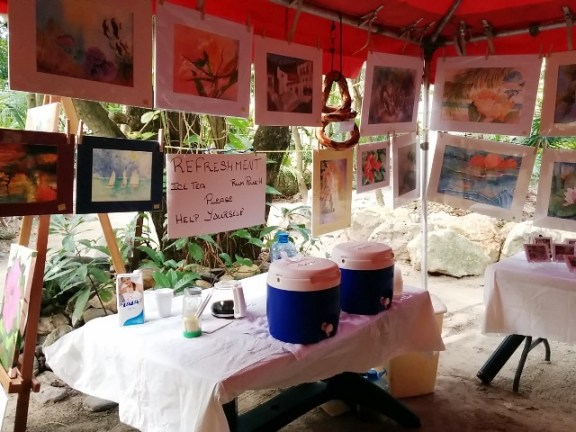 island art and craft show at xanadu resort belize