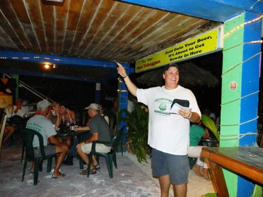 crazy canucks beach bar belize