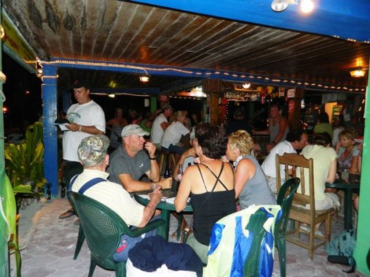 crazy canucks beach bar san pedro belize
