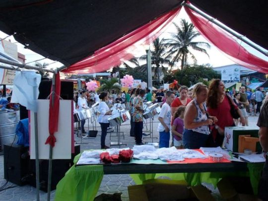 big block party at lobsterfest san pedro belize