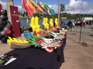 Photo of dragon heads at festival