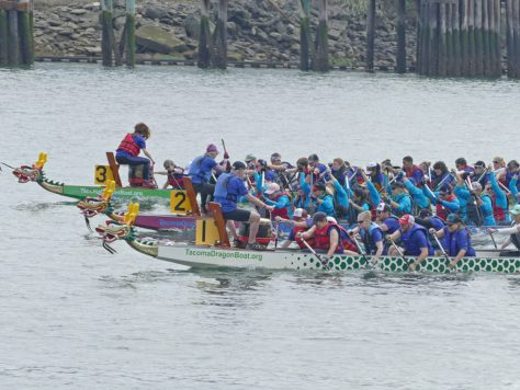 Lots of close races at the 2018 Rainier Dragon Boat Festival