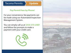 Notice for making credit card payments through call in line