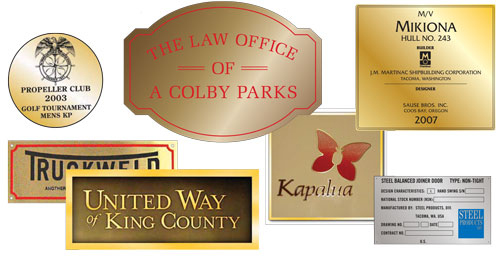 etched engraved signs