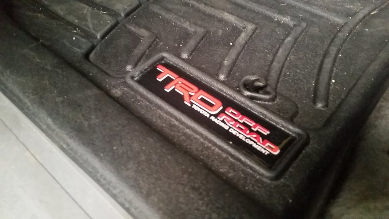 TRD replacement decal for WeatherTech floor mats  Page 8