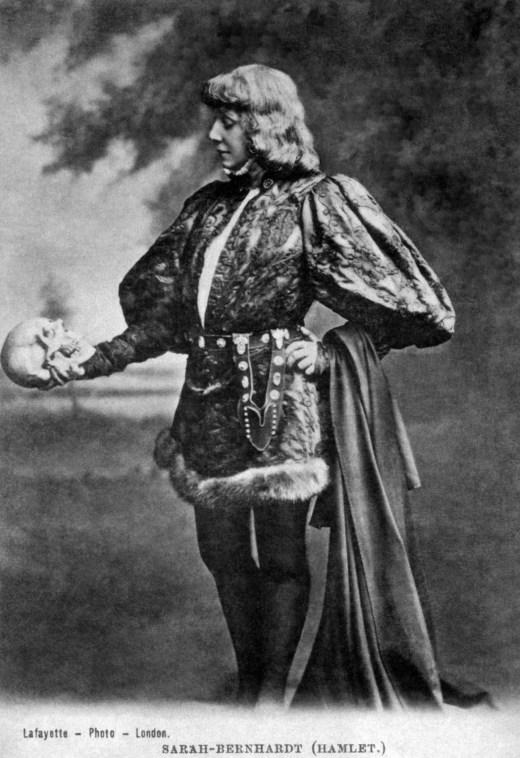 Sarah Bernardt as Hamlet