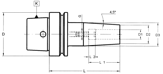 HSK-E 50 Shrink Fit Chucks (Standard Length)