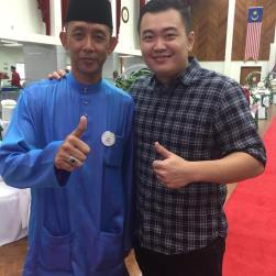 Coach Andrew with his Former and Legendary coach Misbun Sidek