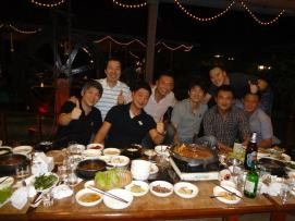 Coach Andrew with Korean national team coaches