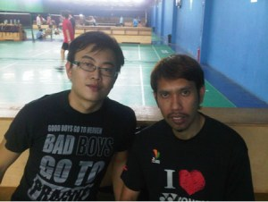 Coach Andrew with former world number 1 Roslin Hashim