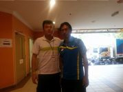 Coach Andrew with Former World Champion Sigit Budiarto(INA)
