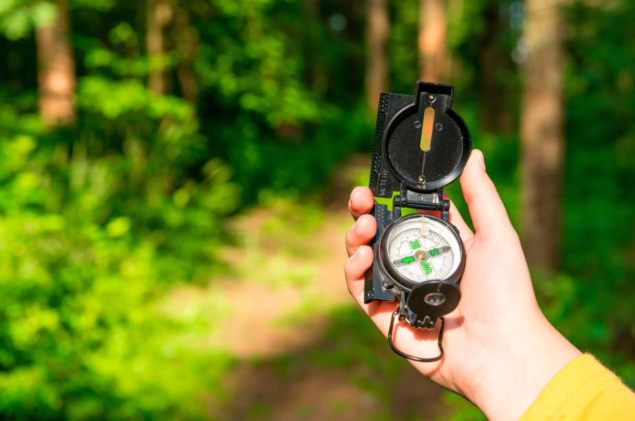 compass lensatic hiking hikers guide survival hand woods lost shutterstock female hikes situations dire reality become even short compasses coolhikinggear