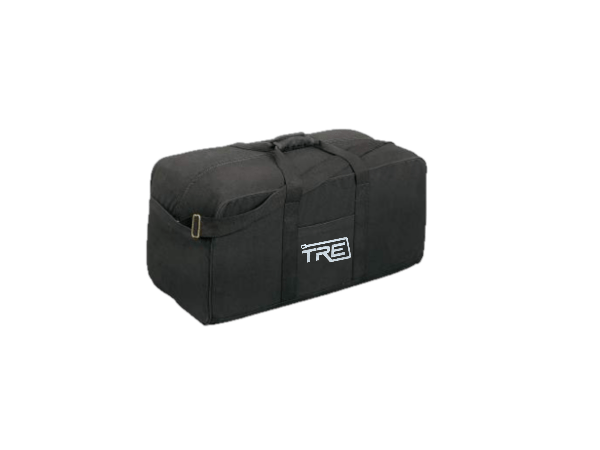 TRE X-Large Black Canvas Duffel Bag