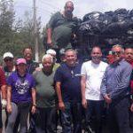 Senador Carlos Rodríguez Mateo recoge más de 6,700 libras de basura en cuatro playas de Loíza