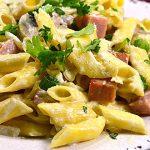 Sabrosuras: Pasta Penne cremosa con Luncheon Meat Coloso