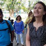 Secretaria de Educación visita escuelas del Noreste