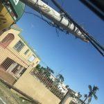 Tendido eléctrico obstruye el paso de conductores en Humacao