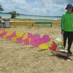 """Festival de chiringas en la playa """"Los Machos"""" en Ceiba"""