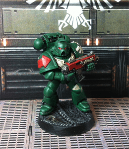 Dark Angel Space Marine Test Model