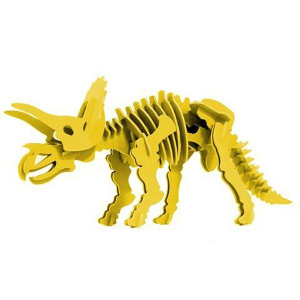 Boneyard Pets Triceratops – Yellow